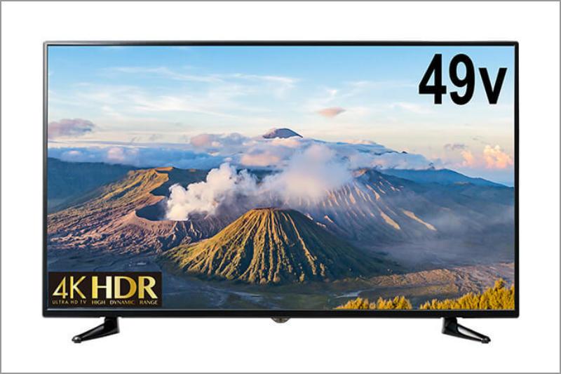 グリーンハウスが激安4Kテレビ「GH-TV49E-BK」は49インチ価格49,800円