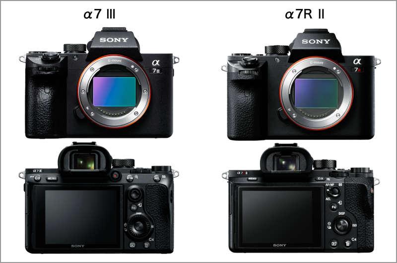 α7RⅡとα7Ⅲデザイン比較