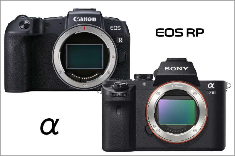 EOS RPとα7Ⅱのマウントの違い